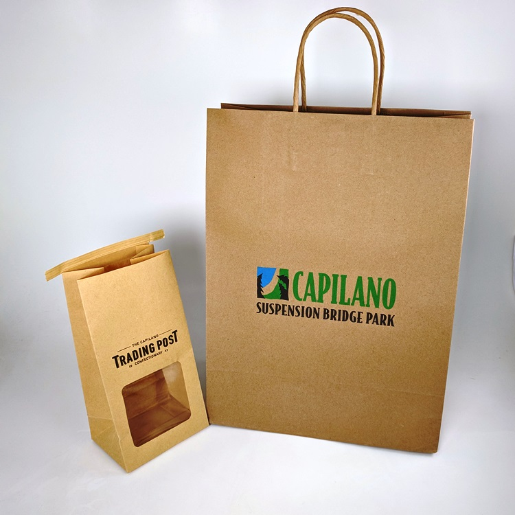 Capilano Suspension Bridge Shopper and Trading Post Tin Tie Bag
