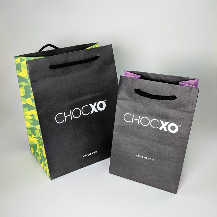 ChocXO Rope Handled Shoppers with Printed Gussets
