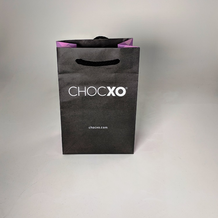 ChocXO Small Rope Handled Shopper with Printed Gussets Front View