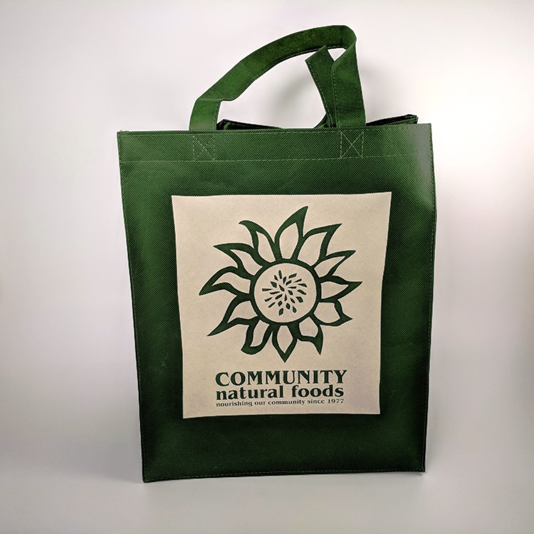 Community Natural Foods Non Woven Reusable Grocery Bag