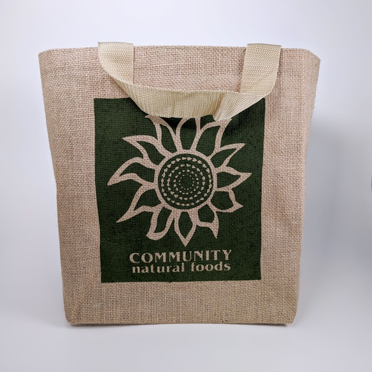 Community Natural Foods Jute Reusable Grocery Bag