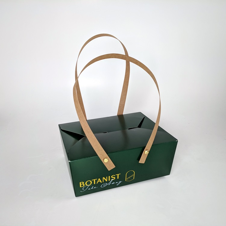 Fairmont Pacific Rim Botanist Restaurant Take Out Box with Pinned Paper Handle