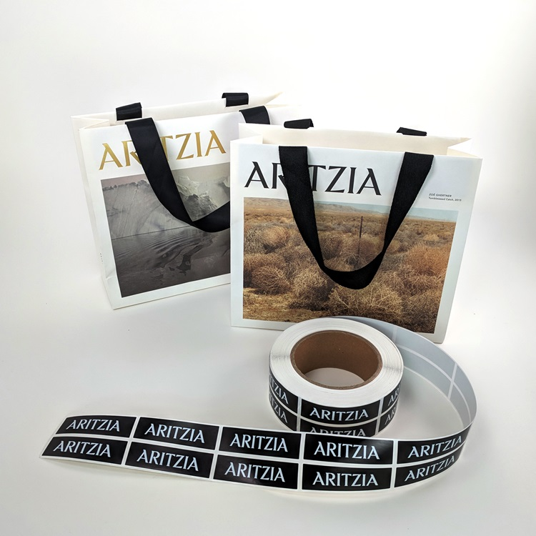 Aritzia Retail Mini Shoppers and Sticker Labels