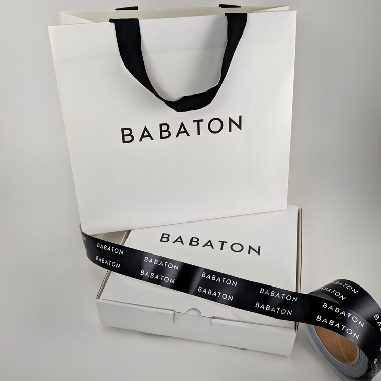 Babaton Shopper Gift Box and Cross Cut Sticker Labels