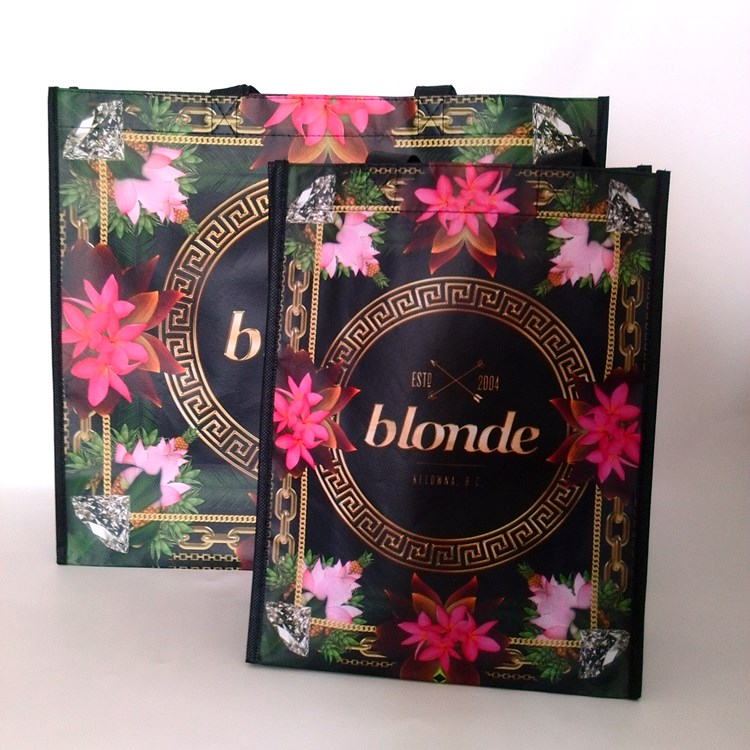 Blonde Matt Laminated Non Woven Reusable Tote Bags