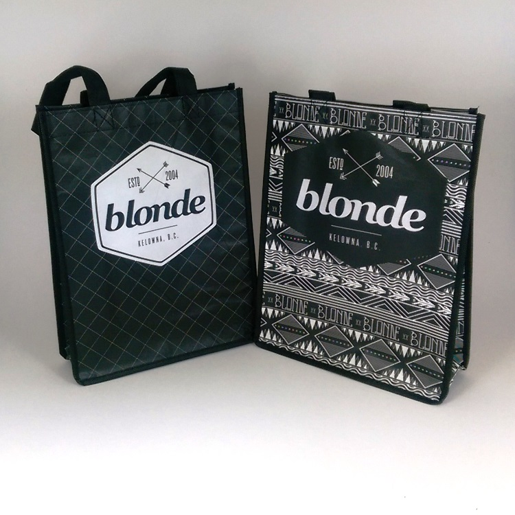 Blonde Matt Laminated Non Woven Reusable Small Tote Bags