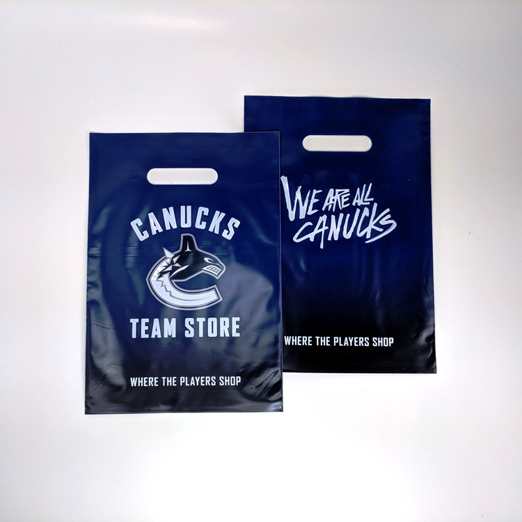Canucks Team Store HDPE Die Cut Handle Shopper