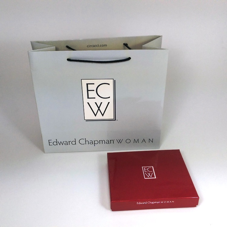Edward Chapman Woman Shopper and Rigid Gift Box
