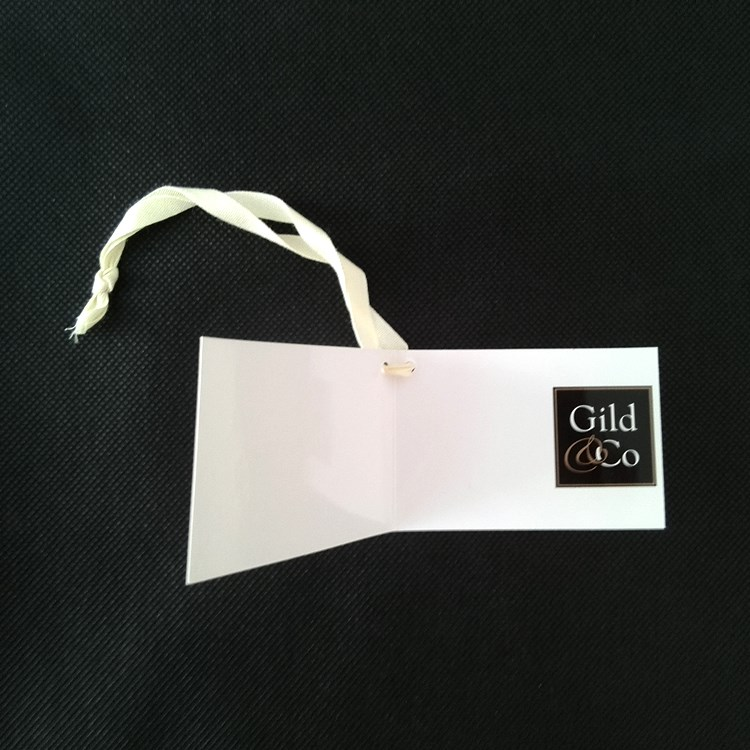 Gild & Co Product Hangtag Open View