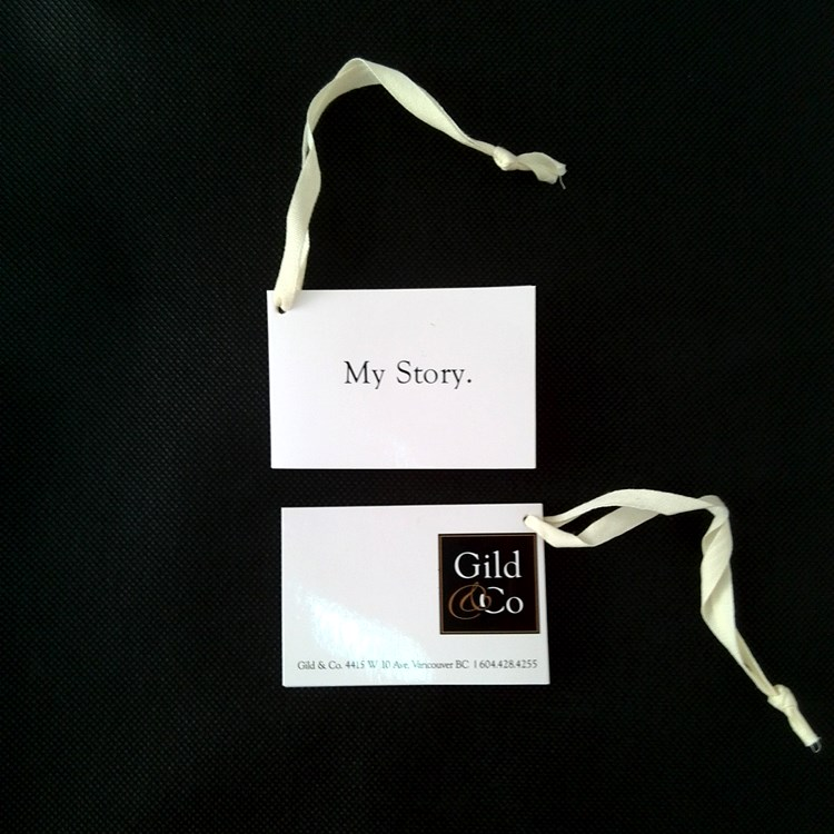 Gild & Co Product Hangtags