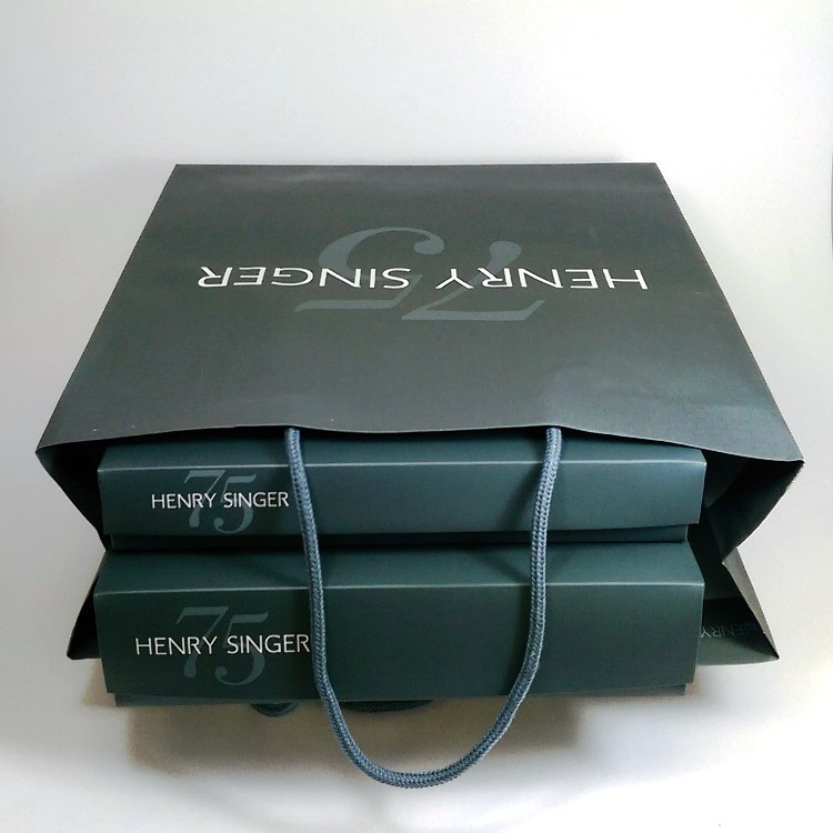 Henry Singer Anniversary Rope Handle Shopper and Folding Gift Boxes