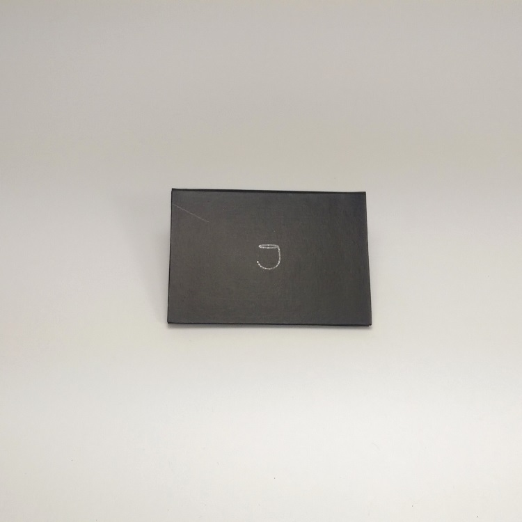 Joey Rigid Folder Gift Card Enclosure with UV Spot Gloss Logo Reverse View