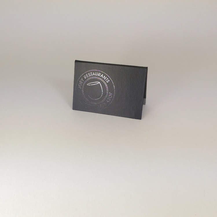 Joey Rigid Folder Gift Card Enclosure with UV Spot Gloss Logo