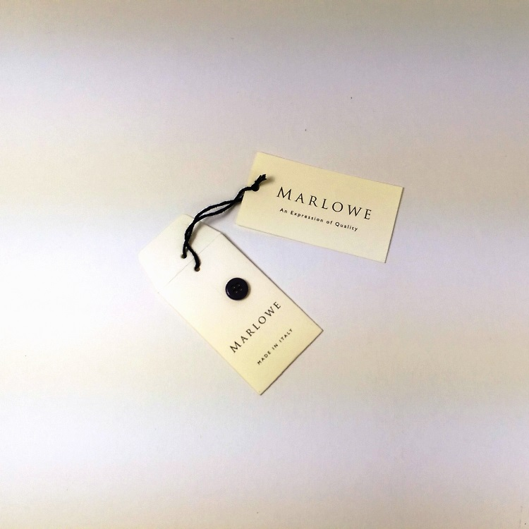 Marlowe Hangtag and Button Envelope