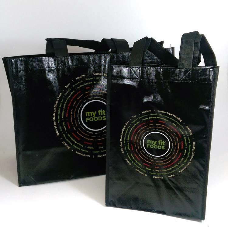 My Fit Foods Small and Large Non Woven Reusable Tote Bags