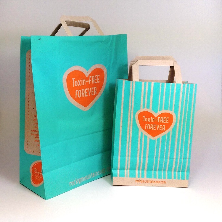 Rocky Mountain Soap Trifold Handle Paper Bags