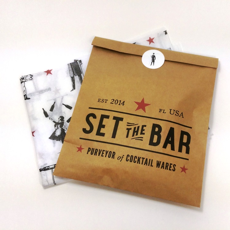 Set the Bar Merchandise Bag, Sticker and Printed Tissue