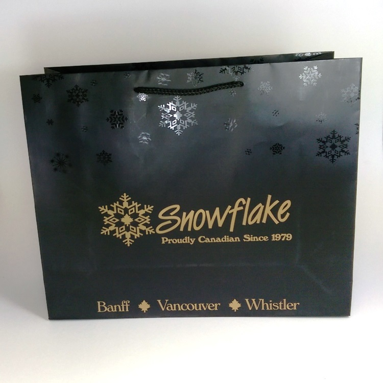 Snowflake Large Rope Handle Shopper with UV Spot Gloss Snowflake design