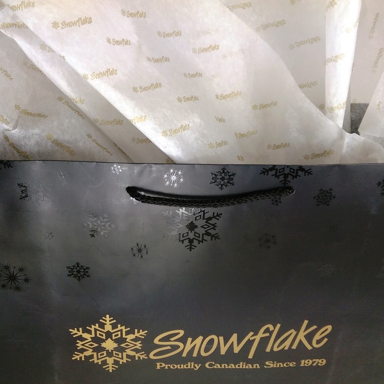 Snowflake Tissue and UV Spot Gloss Detail