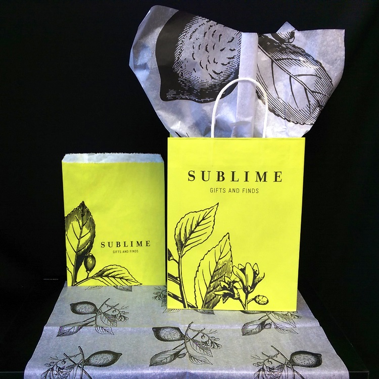Sublime Paper Shopper, Merchandise Bag and Printed Tissue