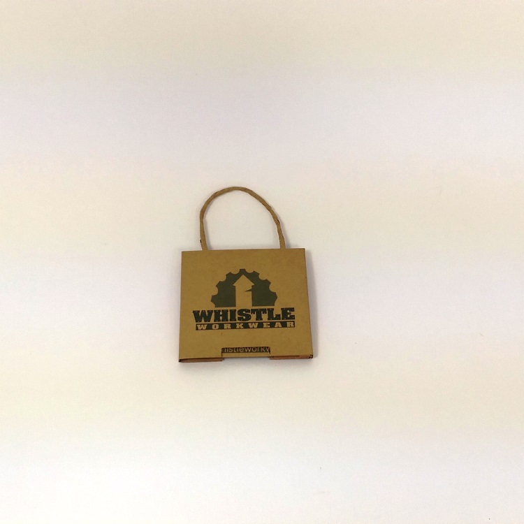 Whistle Work Wear Gift Card Enclosure Closed Front view