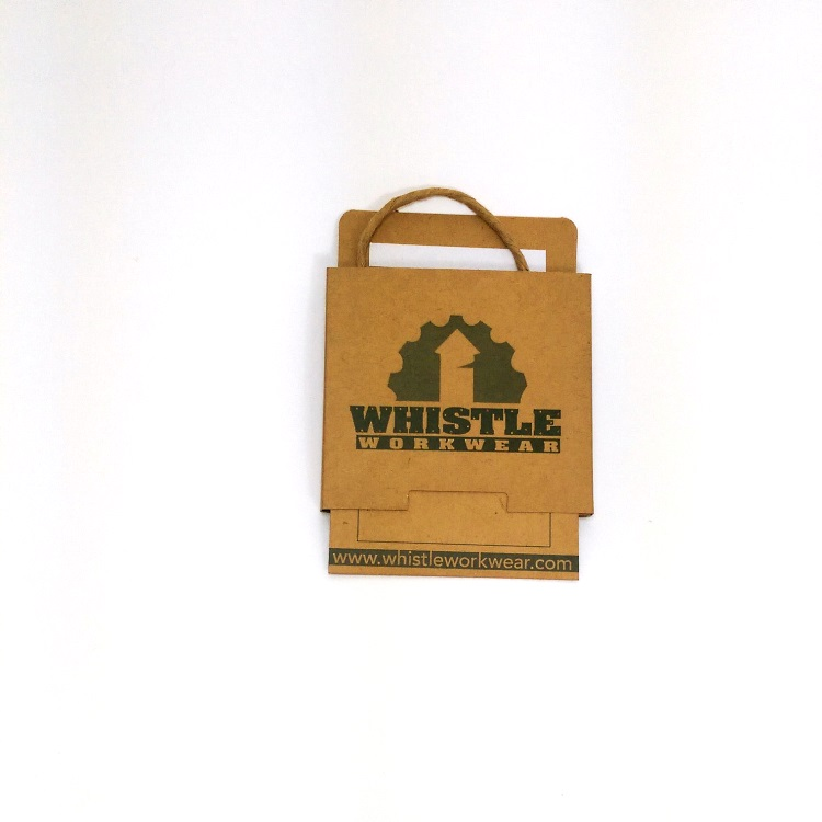 Whistle Work Wear Gift Card Enclosure Slide open view