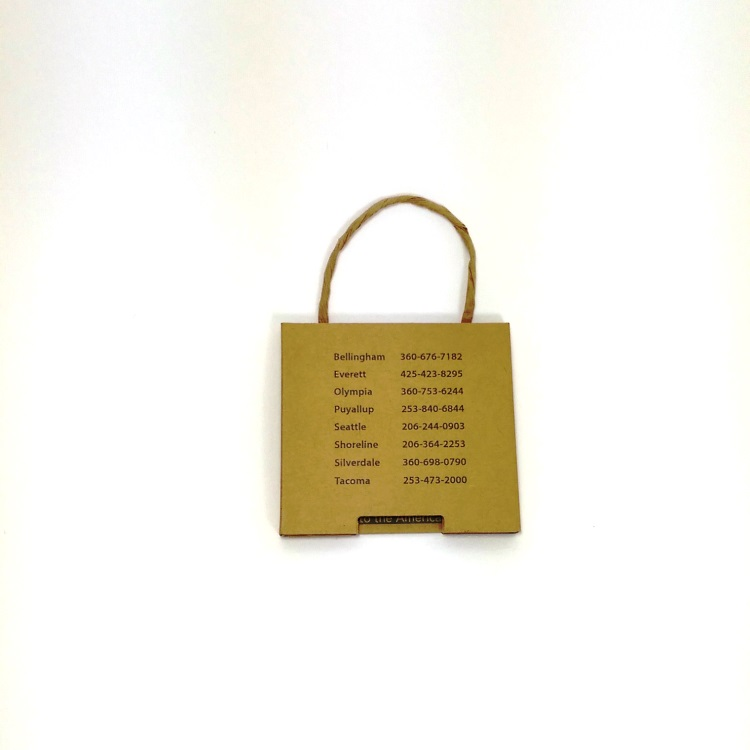 Whistle Work Wear Gift Card Enclosure Reverse View
